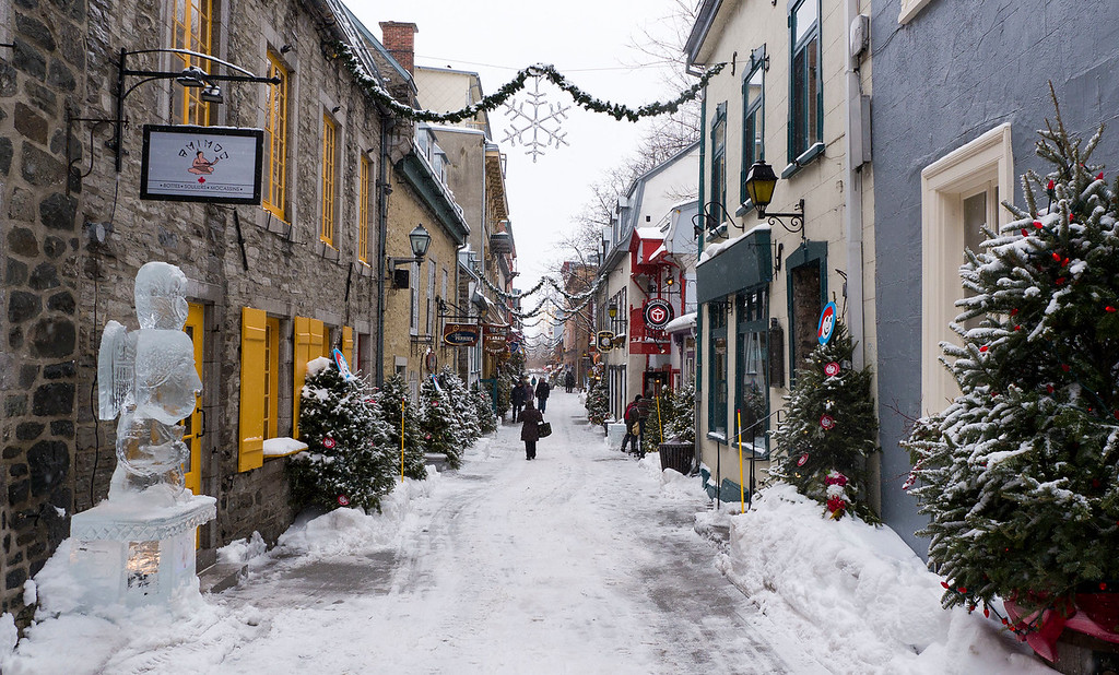 Winter in Quartier Petit Champlain, Quebec City