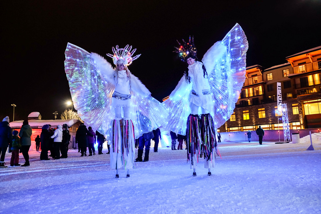 Performers at the Grand Opening of Hôtel de Glace in Québec