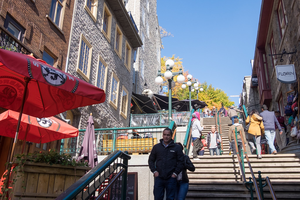 Escalier Casse-Cou, the Breakneck Steps in Old Quebec City
