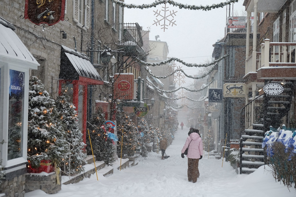 A Quebec City winter in Petit-Champlain