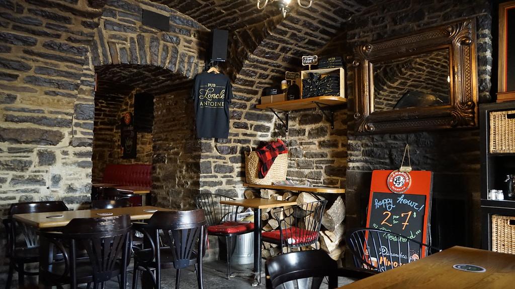 Inside Pub L'Oncle Antoine in Old Quebec City