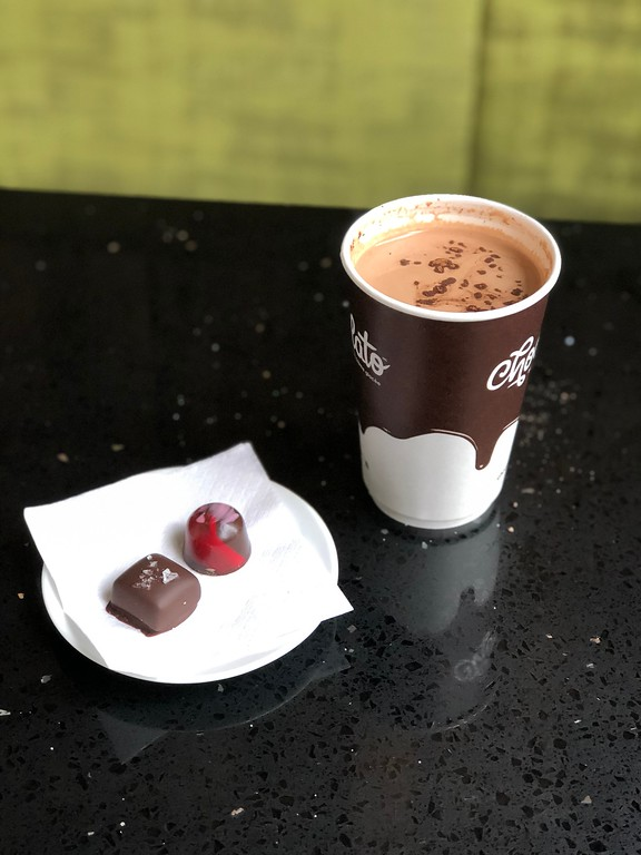 Decadent and rich chocolat chaud from Chocolato in Saint-Roch