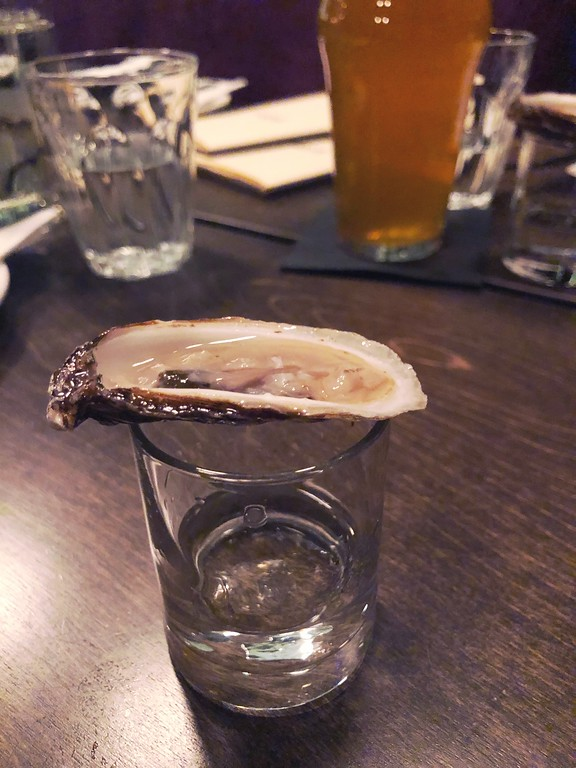 Oyster shot at JJacques in Saint-Roch