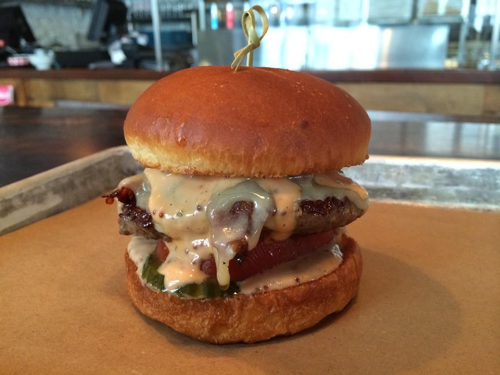 Le Chic burger at Le Chic Shack