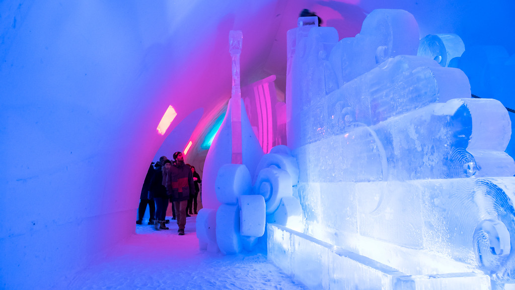 Ice slide at Hotel de Glace