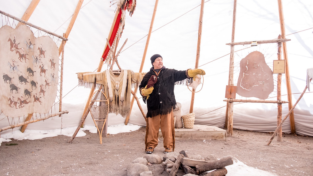 Traditional Huron Site in Wendake, Quebec