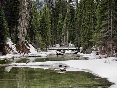 Emerald Lake and Kicking Horse River