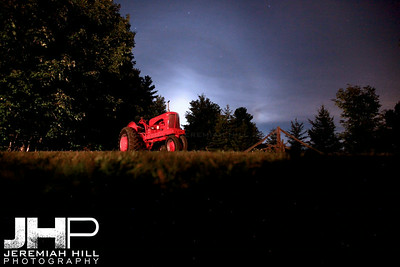 """Red Tractor at Night"", Hillsdale, ON, Canada, 2013 Print JP13-824-863"