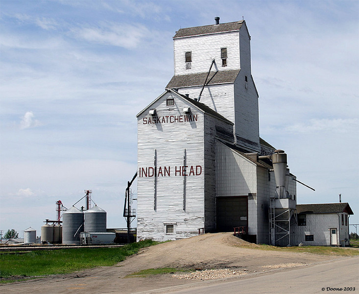 Grain Elevator at Indian Head Saskatchewan