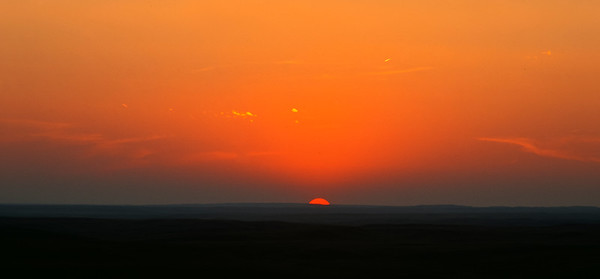 Grasslands National Park - East Block.  Sunset.