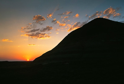 Grasslands National Park - East Block.  Sunset.
