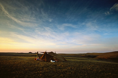 Grasslands National Park - East Block.  Campsite.
