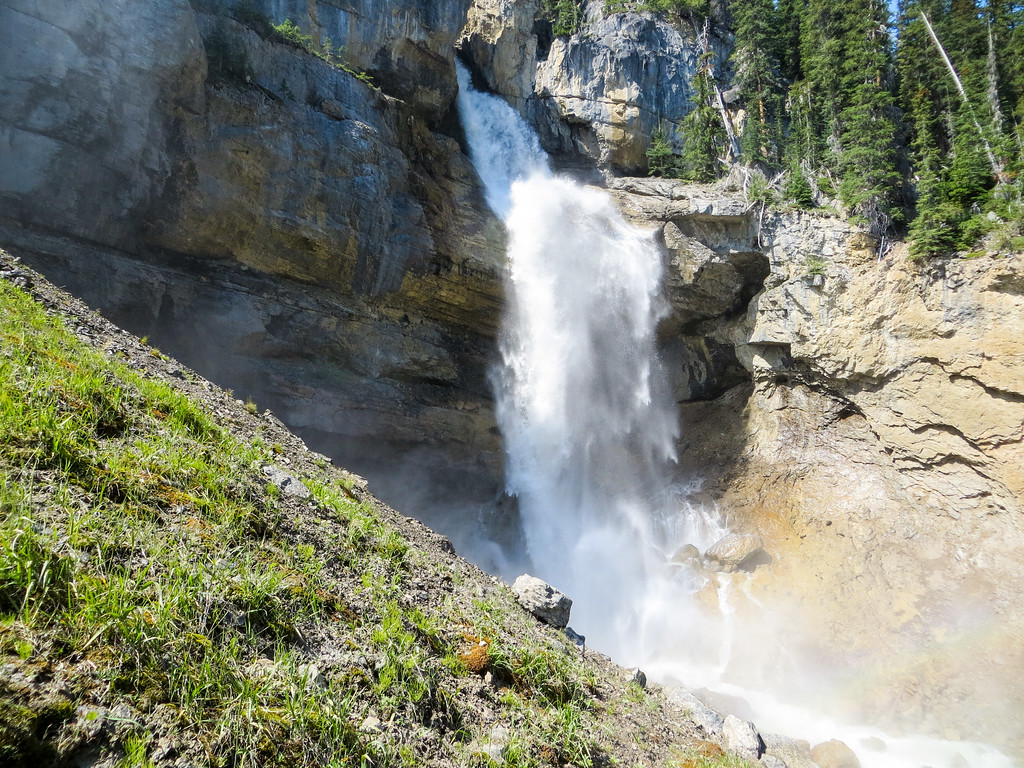encounter surprise waterfalls when visiting banff in summer