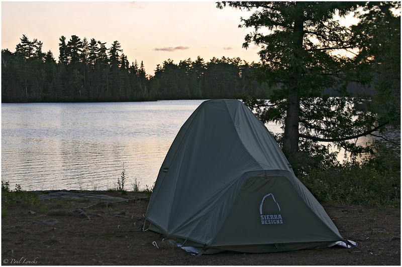 My tent on an island in Shiningwood Bay -- second night