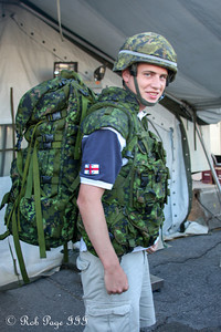 Rob puts on the military gear - Toronto, ON ... September 1, 2012