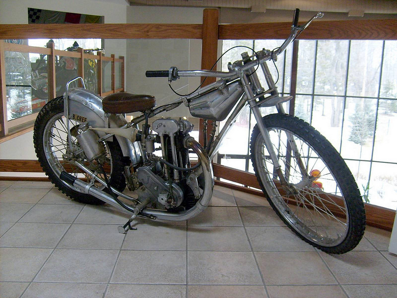 1947 English Speedway, Grass Track and 1952 Canadian 1/2 Mile Dirt Track Championship Motorcycle, Bingley Cree 1913 - 2011, Canadian Motorsport Hall of Fame