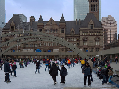 Skating near Old Toronto City Hall