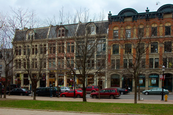 Row of Victorian Buildings in Downtown Toronto