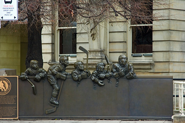 Statue at the Hockey Hall of Fame, Toronto
