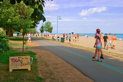 Two Girls Rollerblading at the Toronto Eastern Beaches