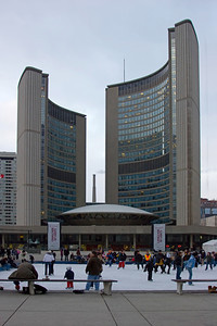 Skating near New Toronto City Hall