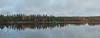 Autumn reflection on the lake.