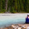 Our guide, Marie, on the Yoho River