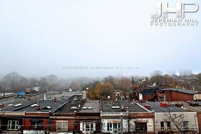 """Parkdale View Through Fog #1"", Toronto, ON, Canada, 2010 Print JP10-1124-003"