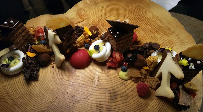 Fairmont Airport Vancouver, Jetside Bar, dessert tray