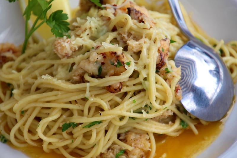 Steveston BC, Britannia Brewing,  lobster pasta
