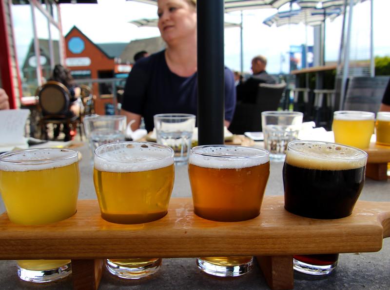 Steveston BC, Britannia Brewing, beer flight