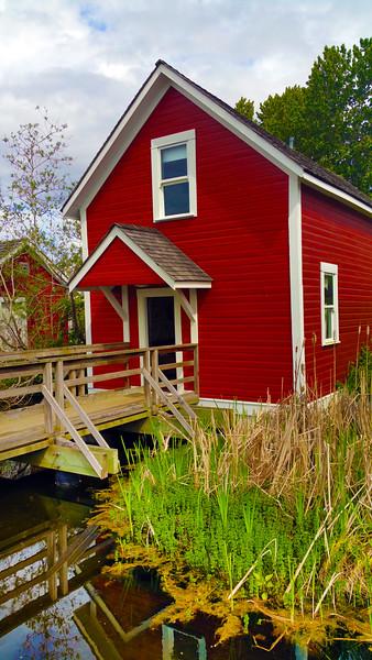 Vancouver BC, Steveston Village, Historic cottage