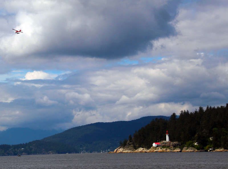 Vancouver BC, Sea Plane and Lighthouse