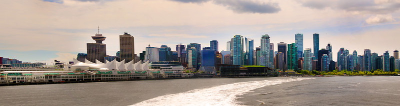 Vancouver BC, Skyline from V2V ferry