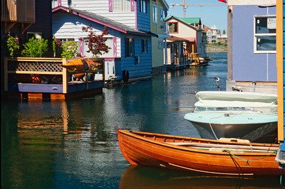 Houseboats in Victoria Harbour, British Columbia