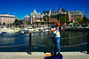 Street Musician in Victoria Harbour, BC