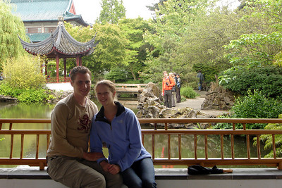 Rob and Emily in Dr. Sun Yat Sen Park - Vancouver, BC ... June 24, 2007