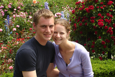 Rob and Emily at Butchart Gardens - Brentwood Bay, BC ... June 26, 2007