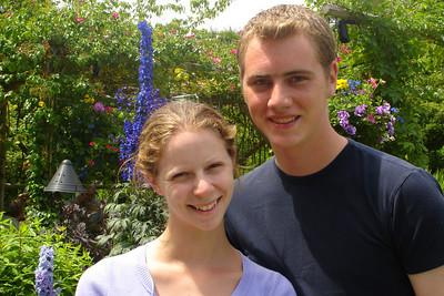 Rob and Emily at Butchart Gardens - Brentwood Bay, BC ... June 26, 2007