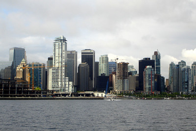 The skyline with a seaplane taking off - Vancouver, BC ... June 25, 2007 ... Photo by Rob Page III