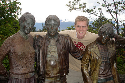 Rob and his immortal family in Queen Elizabeth Park - Vancouver, BC ... June 24, 2007 ... Photo by Emily Conger