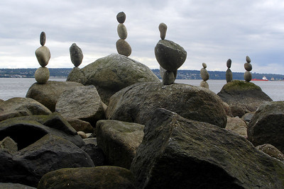 The balanced rocks of English Bay - Vancouver, BC ... June 23, 2007 ... Photo by Rob Page III