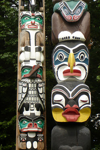 Totem poles - Vancouver, BC ... June 23, 2007 ... Photo by Rob Page III
