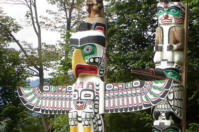Totem poles in Stanley Park - Vancouver, BC ... June 23, 2007 ... Photo by Rob Page III