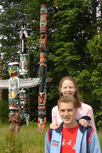 Rob and Emily are a totem pole too - Vancouver, BC ... June 23, 2007