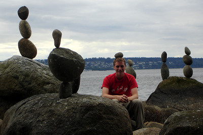 Rob joins the balanced rocks of English Bay - Vancouver, BC ... June 23, 2007 ... Photo by Emily Conger