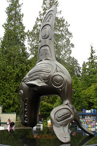 The whale in front of the Vancouver Aquarium - Vancouver, BC ... June 23, 2007 ... Photo by Rob Page III