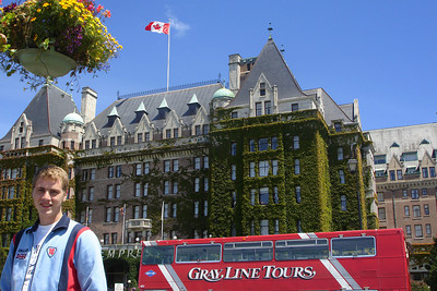 Rob and the Empress Hotel - Victoria, BC ... June 25, 2007 ... Photo by Emily Conger