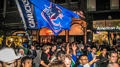 Stanley Cup 2011 celebration, Vancouver, Canada