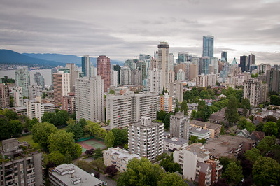 Vancouver--from the 34th floor balcony of our hotel.